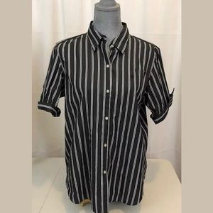 Lauren By Ralph Lauren Sz XL Striped Button Up